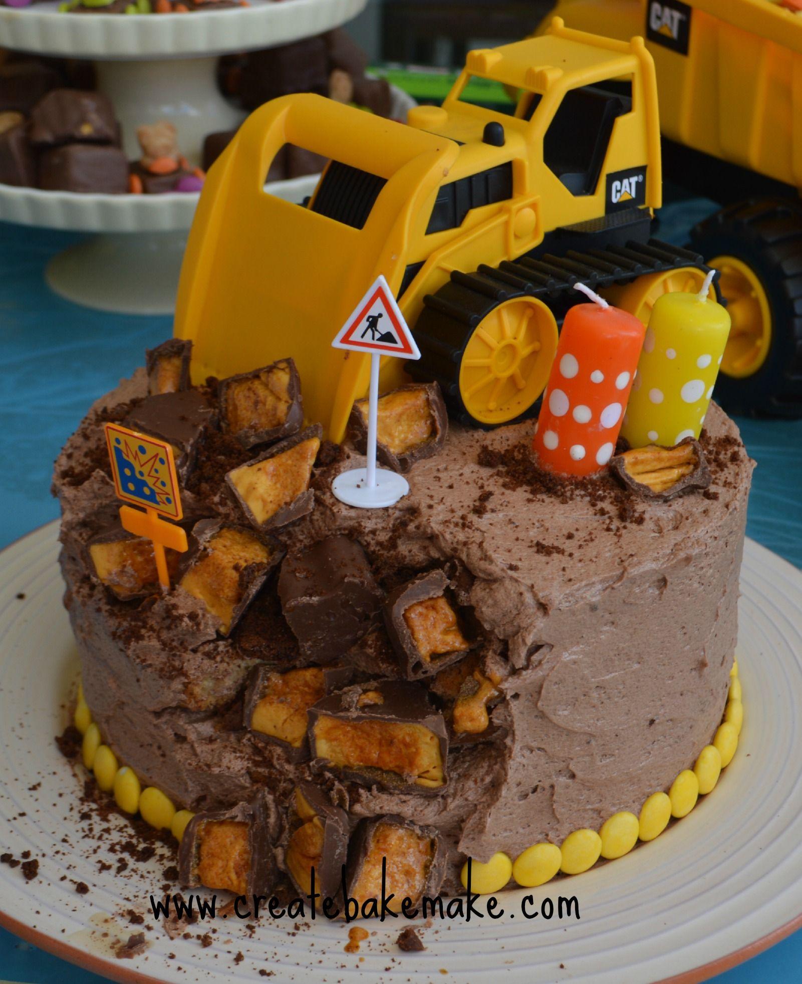 Boys Construction Birthday Cake Kids Birthday Parties