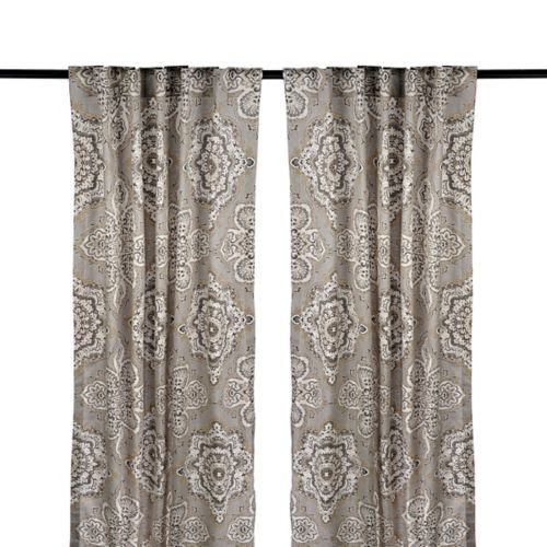 Tan lapperine curtain panel set 84 in