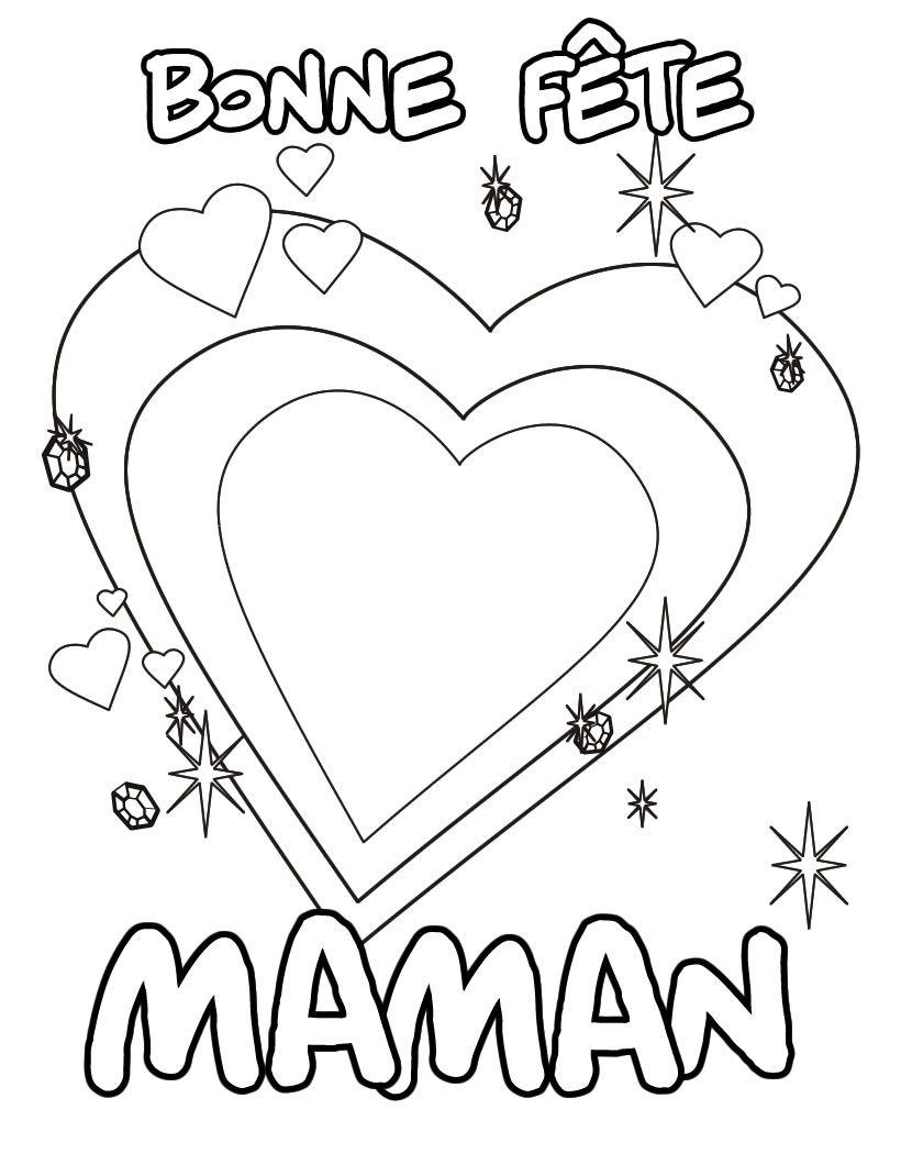 Coloriage Bonne fªte Maman Coloriages Pinterest