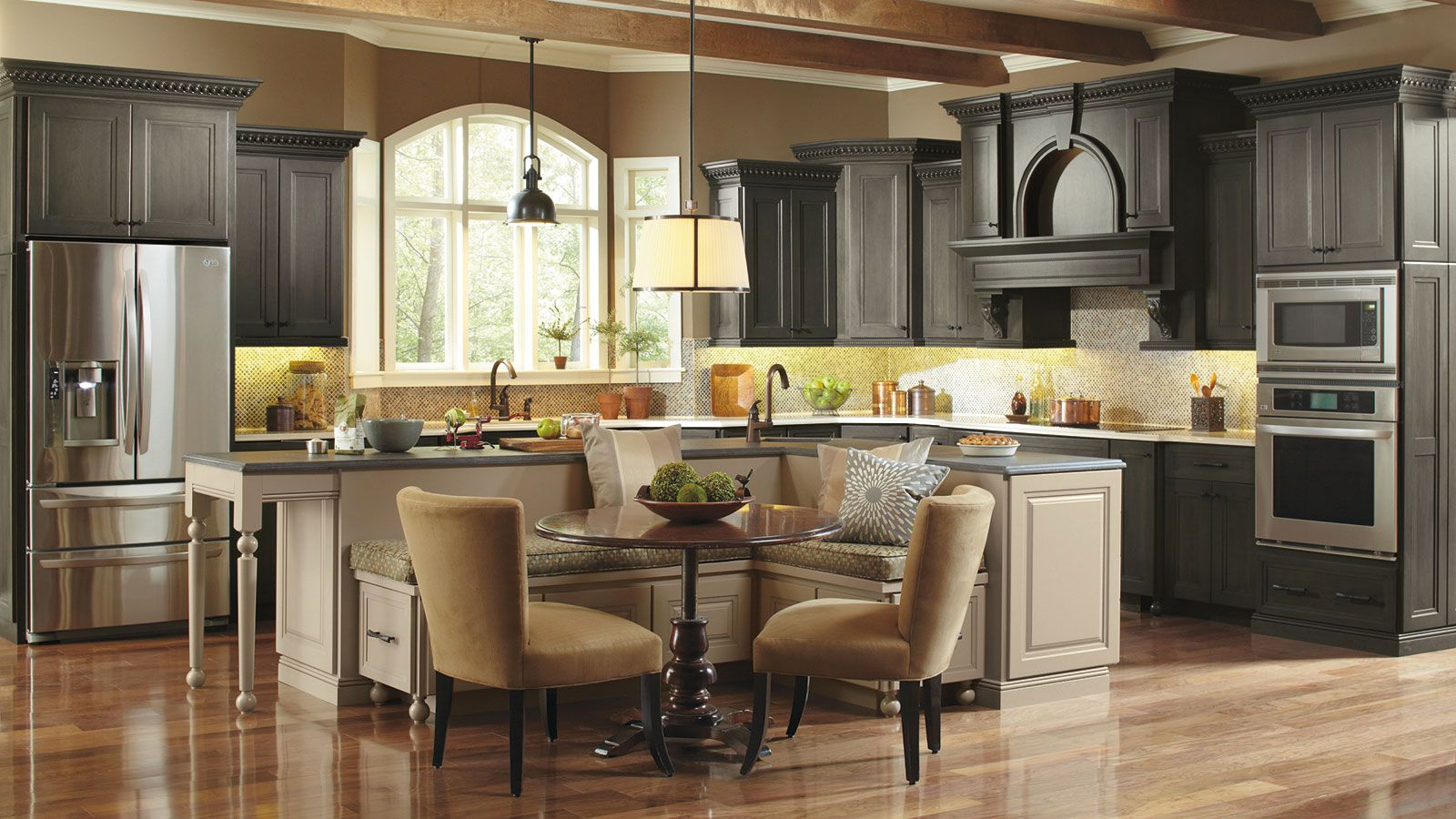 Kitchen islands designs  Casual Kitchen with Large Kitchen Island  Omega  kitchen u bath