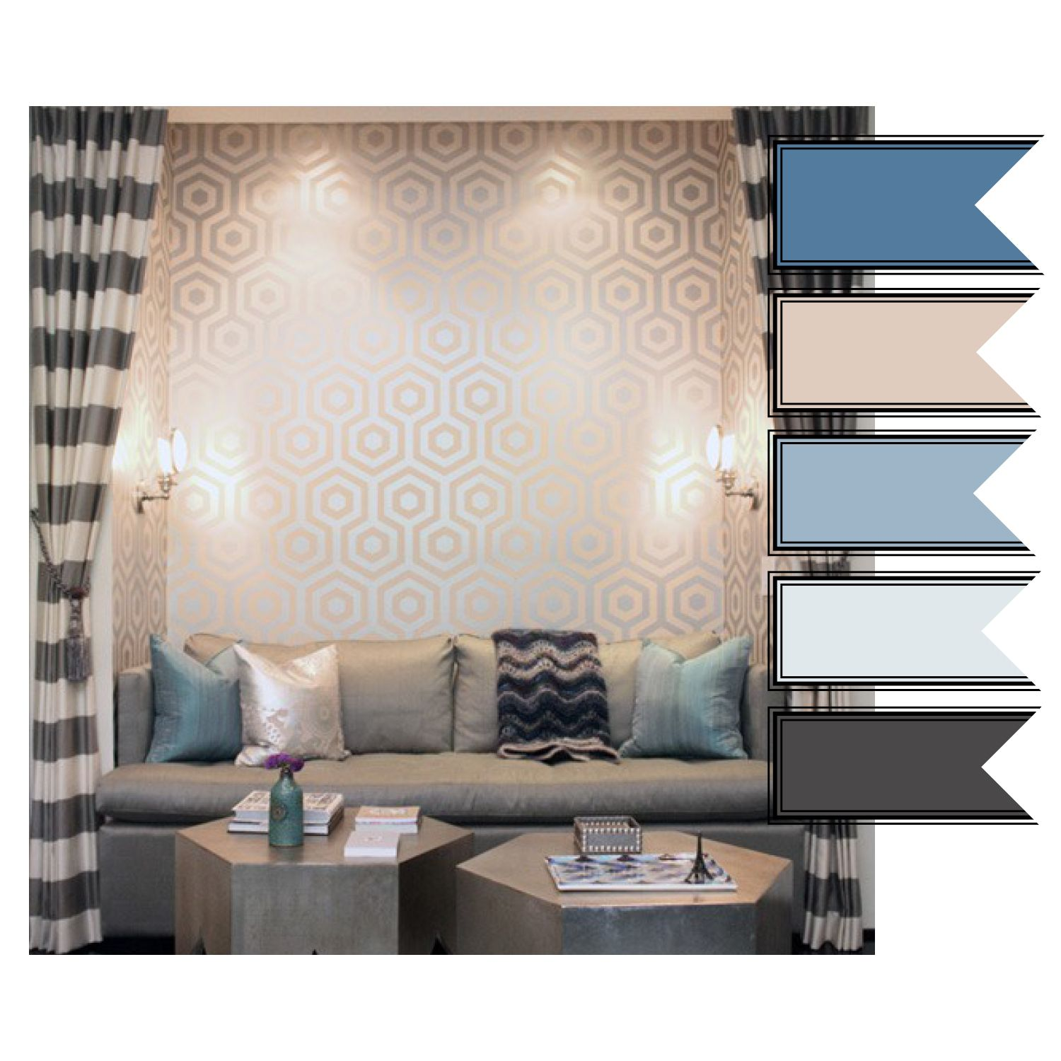 Future Apartment Color Scheme Blues Silver Grey