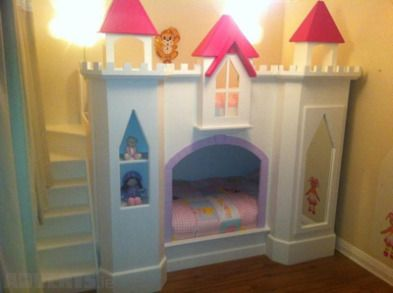 Diy Castle Bed Girls Castle Bunk Bed Hand Made One Off Bed For