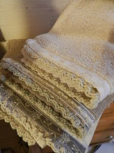 Crochet towel edging