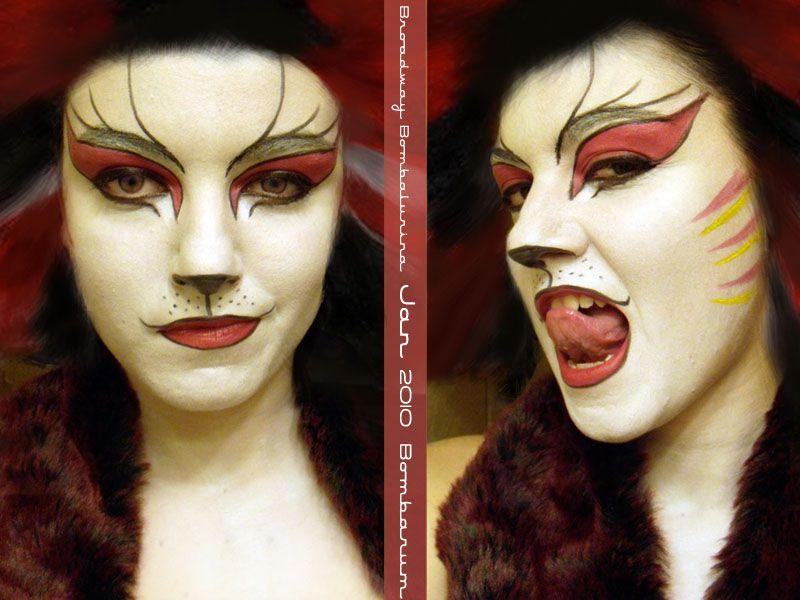 Broadway Bombalurina Makeup By Eglem Deviantart Com On Deviantart Makeup Costume Makeup Face