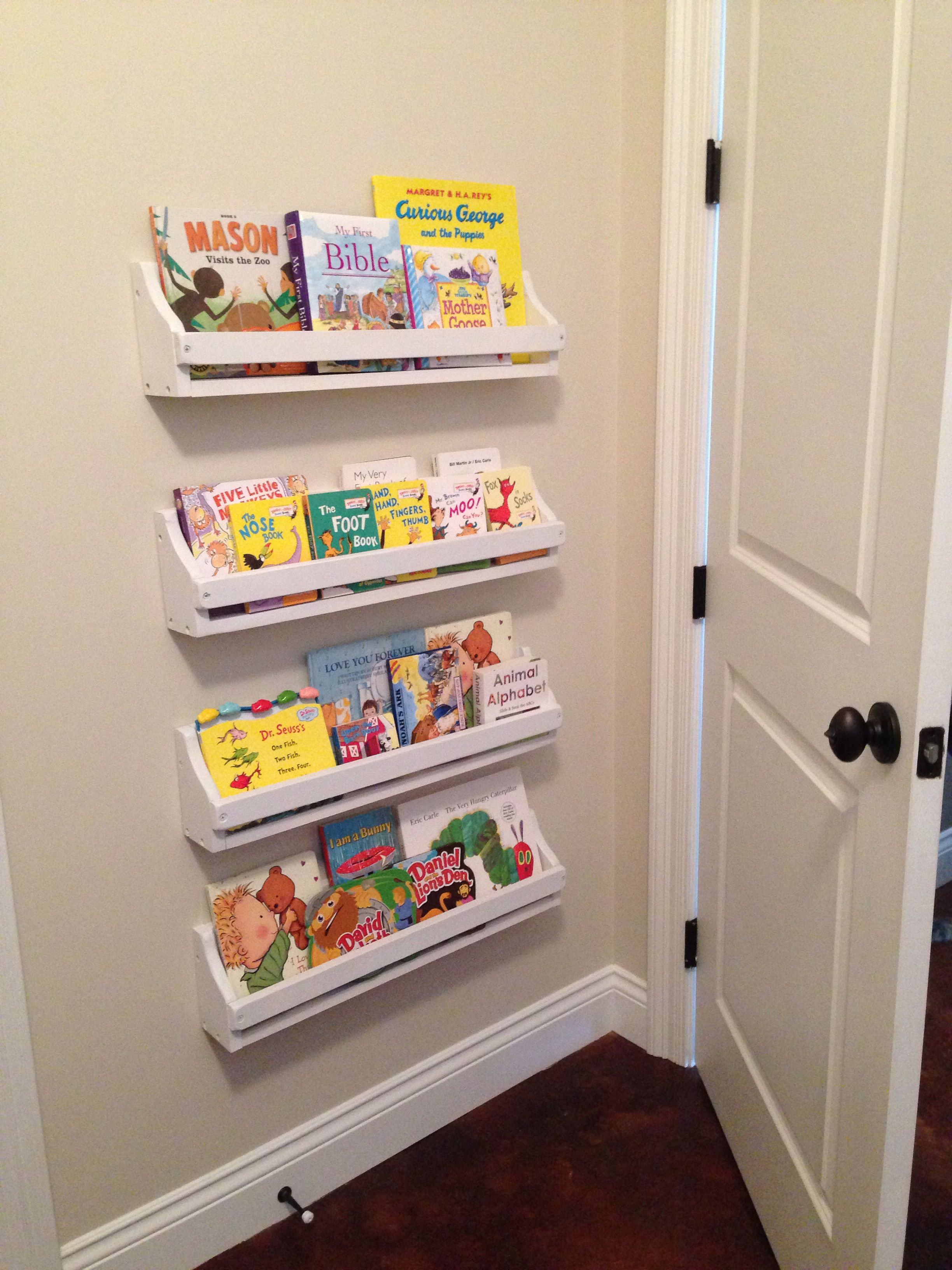 Pinterest Inspired Diy Behind The Door Wall Mounted Bookshelves