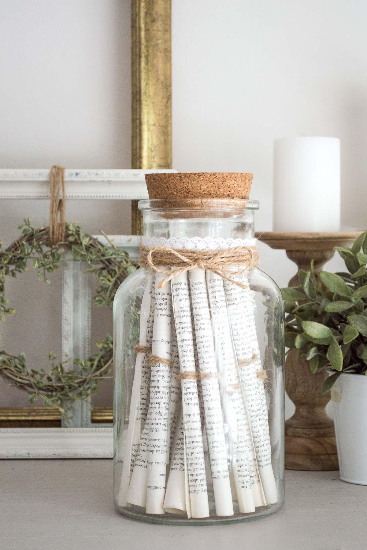 DIY vintage-style rolled paper jar - in 20 minutes or less! images