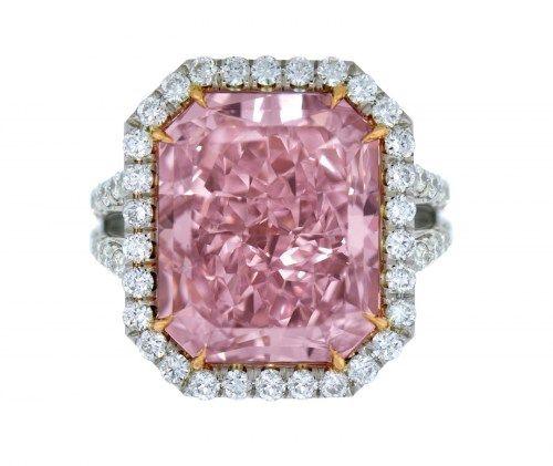Pink Rock. 0.44 carat vivid pink diamond from Argyle Mine