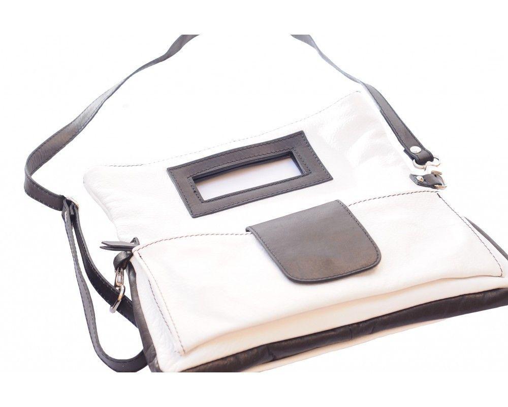 Handbag With Cut Out Handle An Adjustable Shoulder Strap Multi Colors