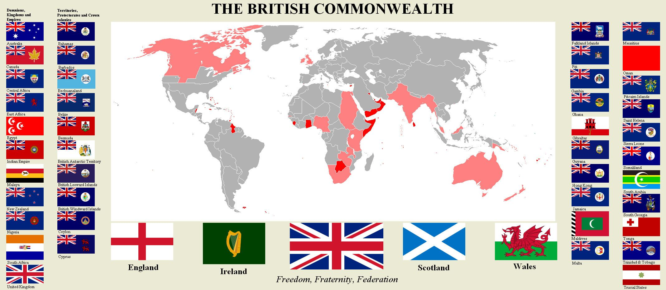 British commonwealth atlas alternative history british empire british commonwealth atlas sciox Gallery