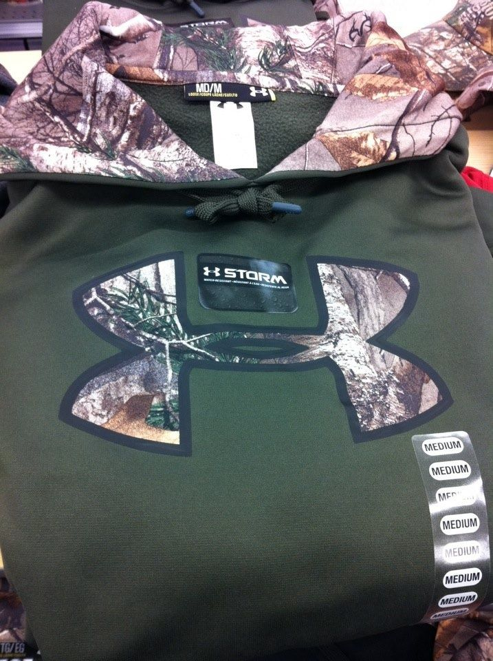 Green hoodie with Camo on it!!