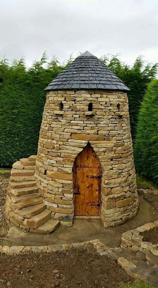 (notitle) in 2020 Stone cabin, Stone houses, Castle house