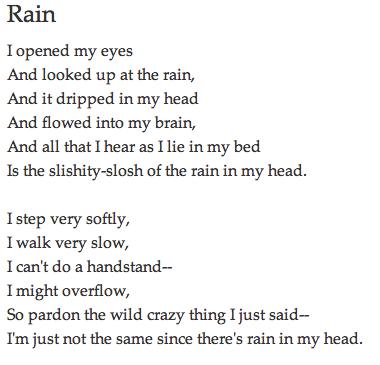 Rain by shel silverstein