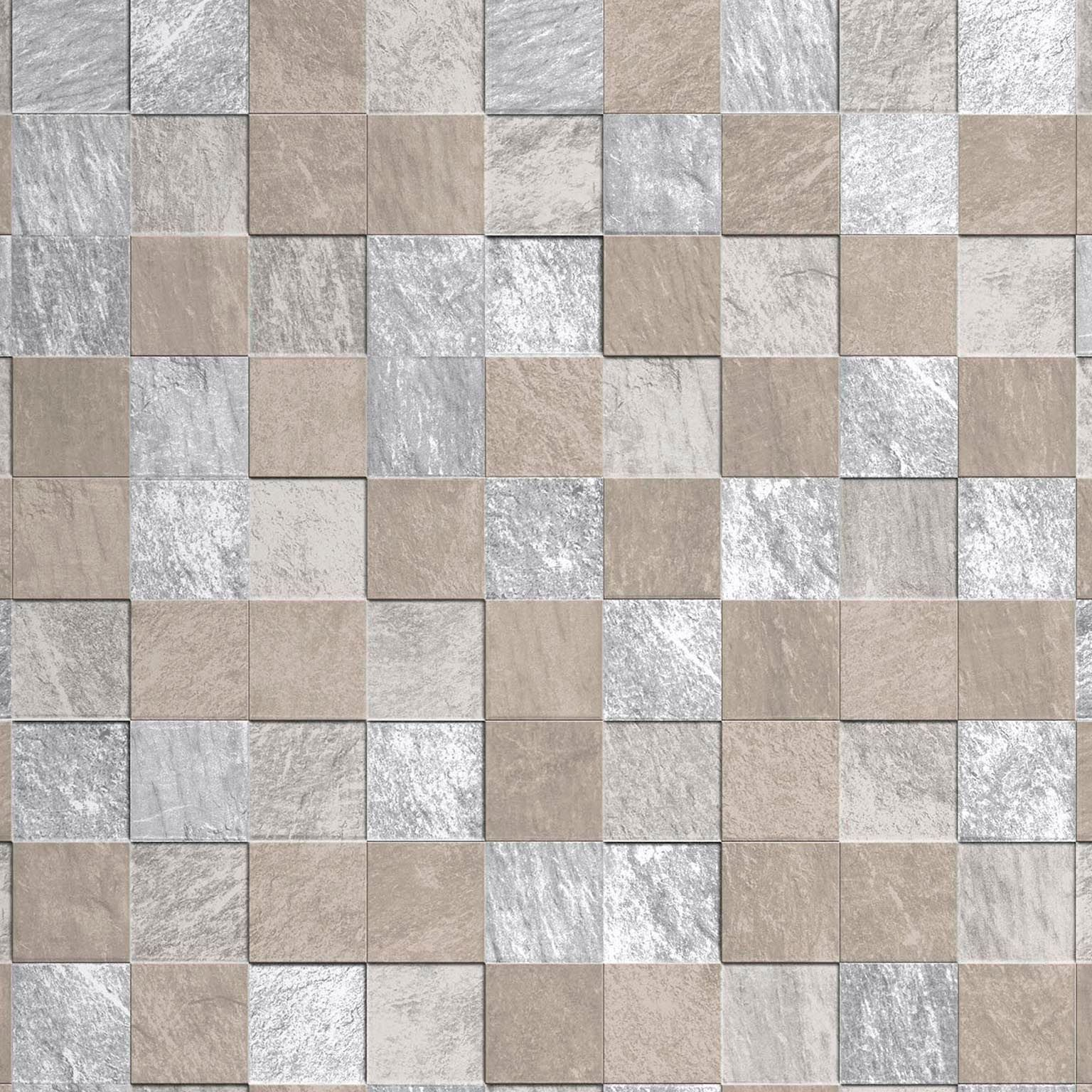 Contour Beige Natural Stone Tile Metallic Kitchen Bathroom