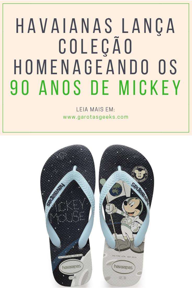 0d25ef522 Havaianas lança coleção homenageando os 90 anos de Mickey