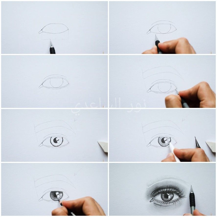 خطوات رسم العين Eye Drawing Eye Art Art Drawings Art