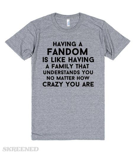 having a family is like having a fandom no matter how crazy you are #Skreened