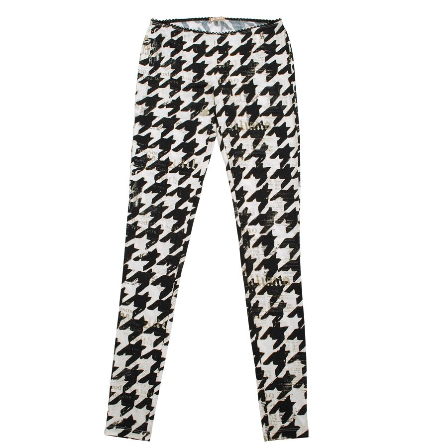Flannel outfits with leggings  Galliano Houndstooth Legging  up to size   victory  Flannels