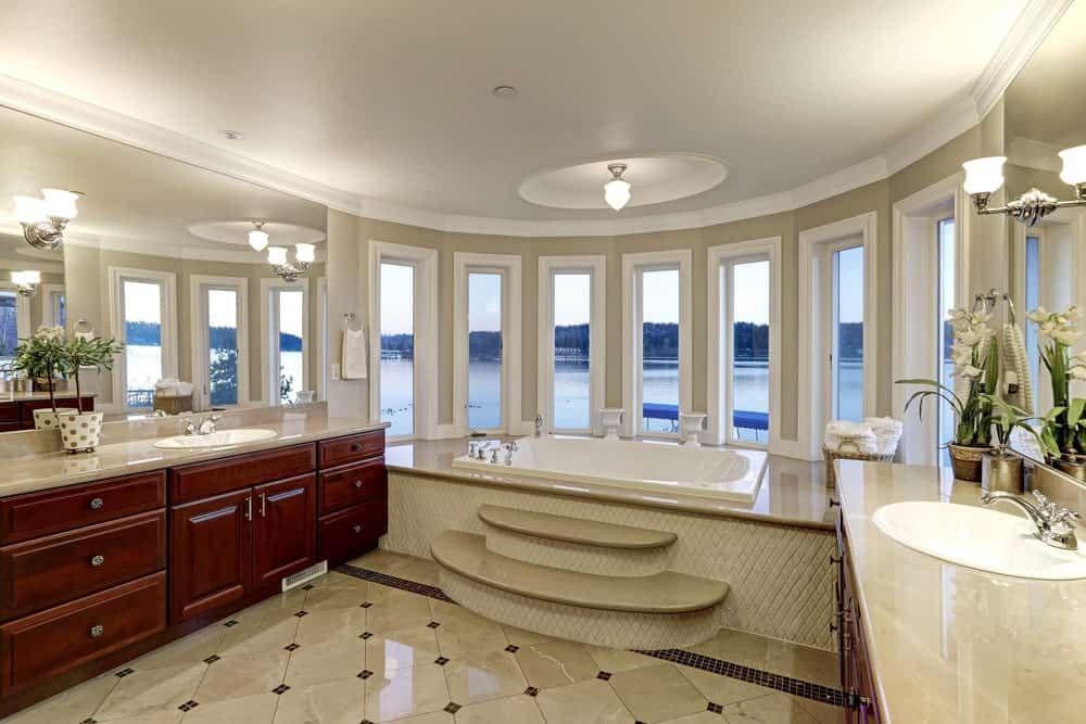95 Mediterranean Primary Bathroom Ideas Photos Luxury Master Bathrooms Spa Inspired Bathroom Bathroom Dimensions