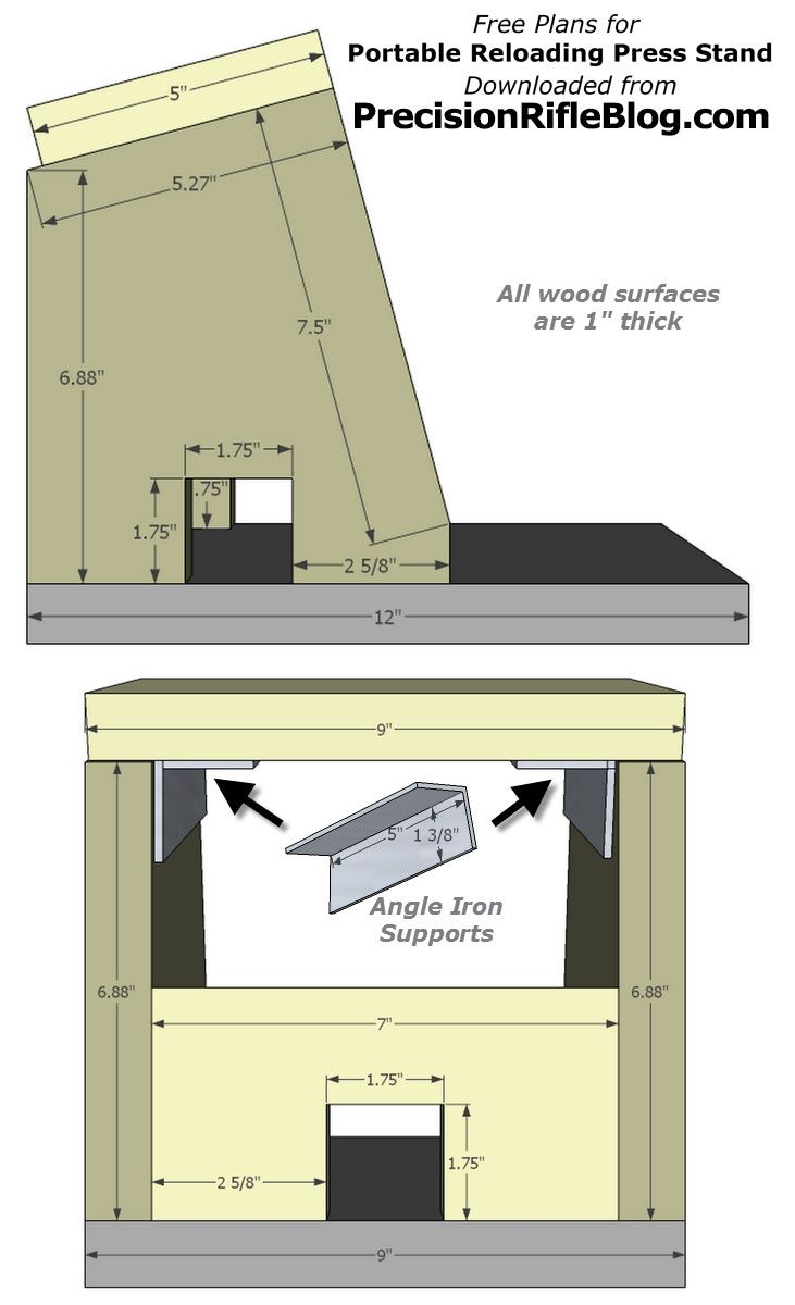 Free Plans For Portable Reloading Press Stand Reloading