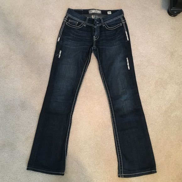 Bke denim, Payton style - boot cut - 26R These jeans are in great condition. The color is a rich deep denim color. BKE Pants Boot Cut & Flare