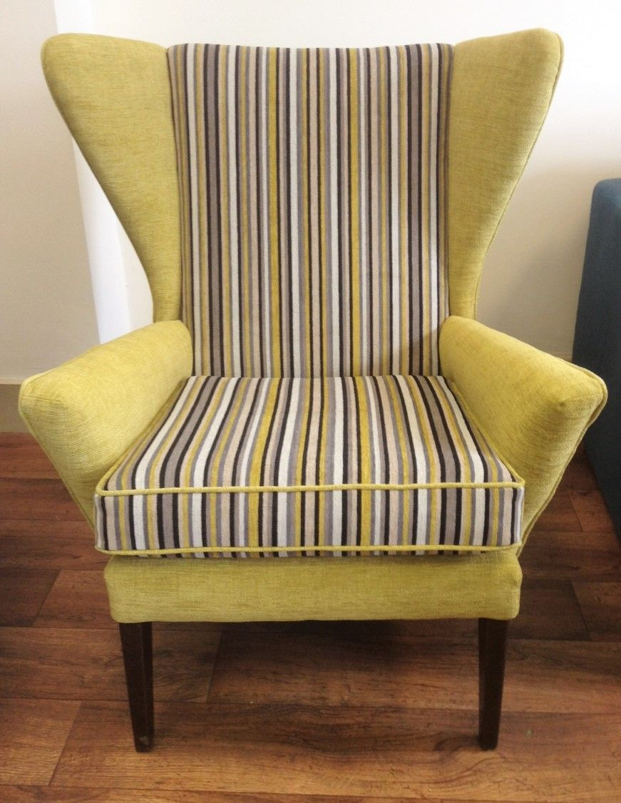 Armchair Upholstery Parker Knoll Armchair With Stripes Upholstered By South West