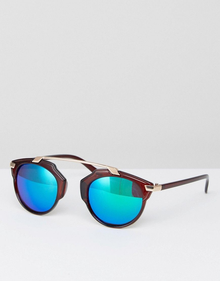 09ad0b5625 7x Brown Sunglasses with Blue Tinted Lense - Brown