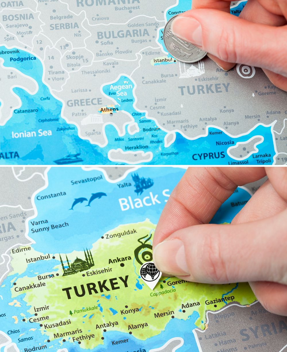 explore trip to turkey scratch off and more scratch off europe map