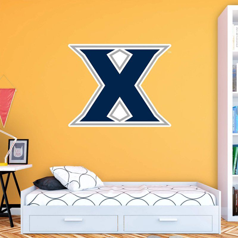fathead ncaa xavier musketeers logo wall decal 61 61959 on wall logo decal id=43941