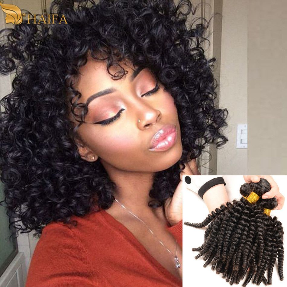 brazilian spiral curl human hair weave - 3 bundles