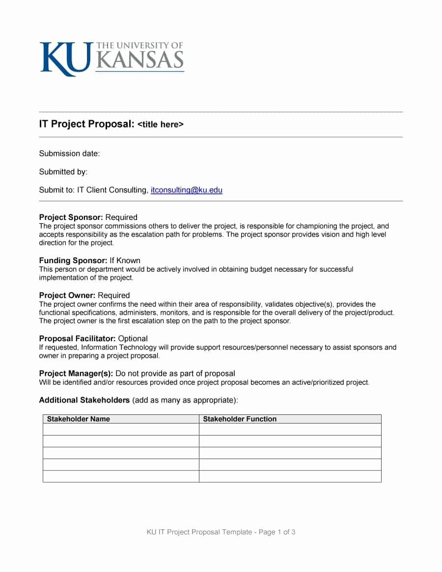 20 One Page Proposal Template Doc ™ in 2020 Project