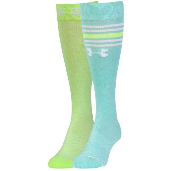 Under Armour Women's UA Knee High Socks ($12) ❤ liked on Polyvore featuring intimates, hosiery, socks, moisture wicking socks, arch support socks, knee high socks, knee hi socks and sweat wicking socks