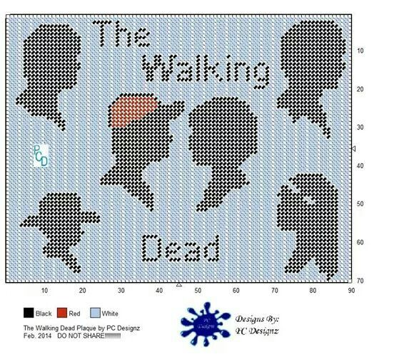 The Walking Dead wall hanging | plastic canvas | Pinterest ...