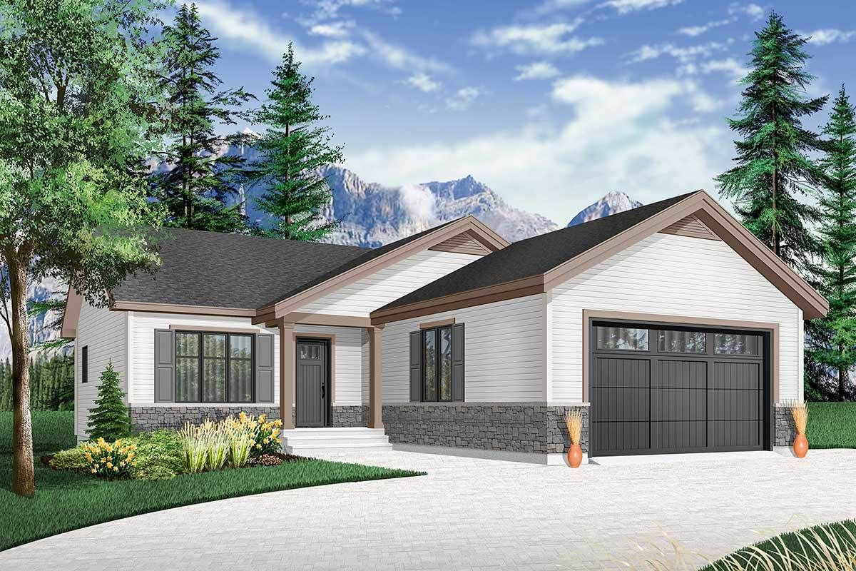 Plan 22511dr Affordable 2 Bed House Plan With Alternate Layout In 2021 Country Style House Plans House Plans Craftsman House