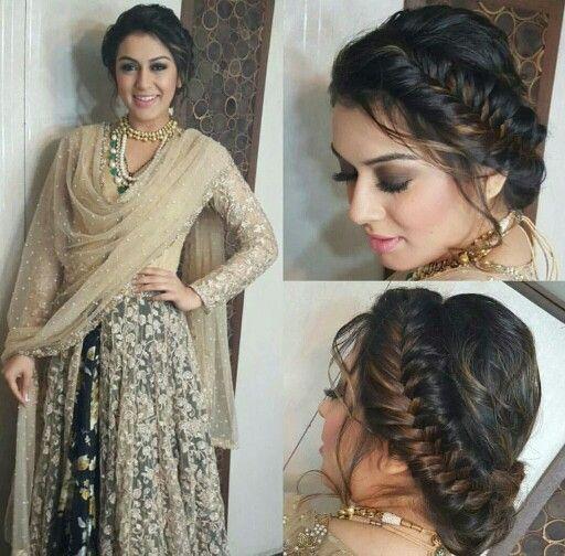 Hansika Motwani Anarkali Hair Styles Indian Bride Hairstyle Bride Hairstyles