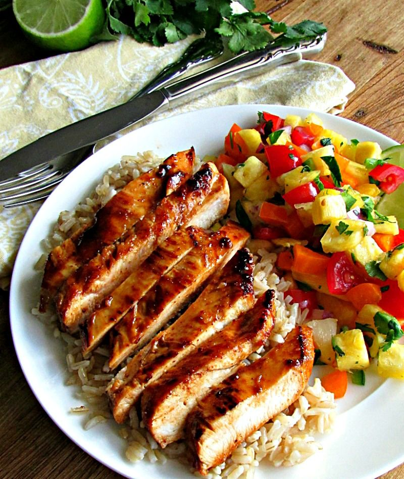 Chili Lime Chicken And Pineapple Salsa