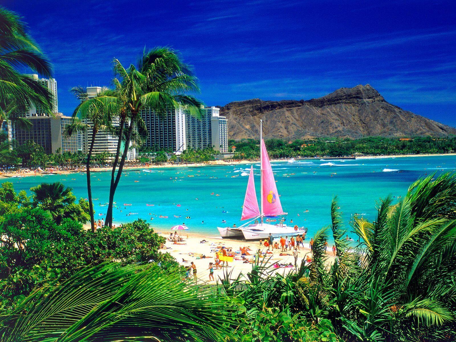 Waikiki Oahu Hawaii Normal Hd Wallpapers High Definition 100 Hd Quality Best Vacation Spots Best Honeymoon Destinations Oahu Travel