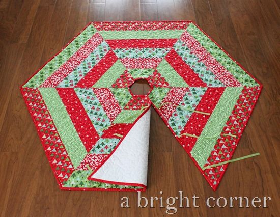 Photo Holly Jolly Tree Skirt Sewing Christmas Tree