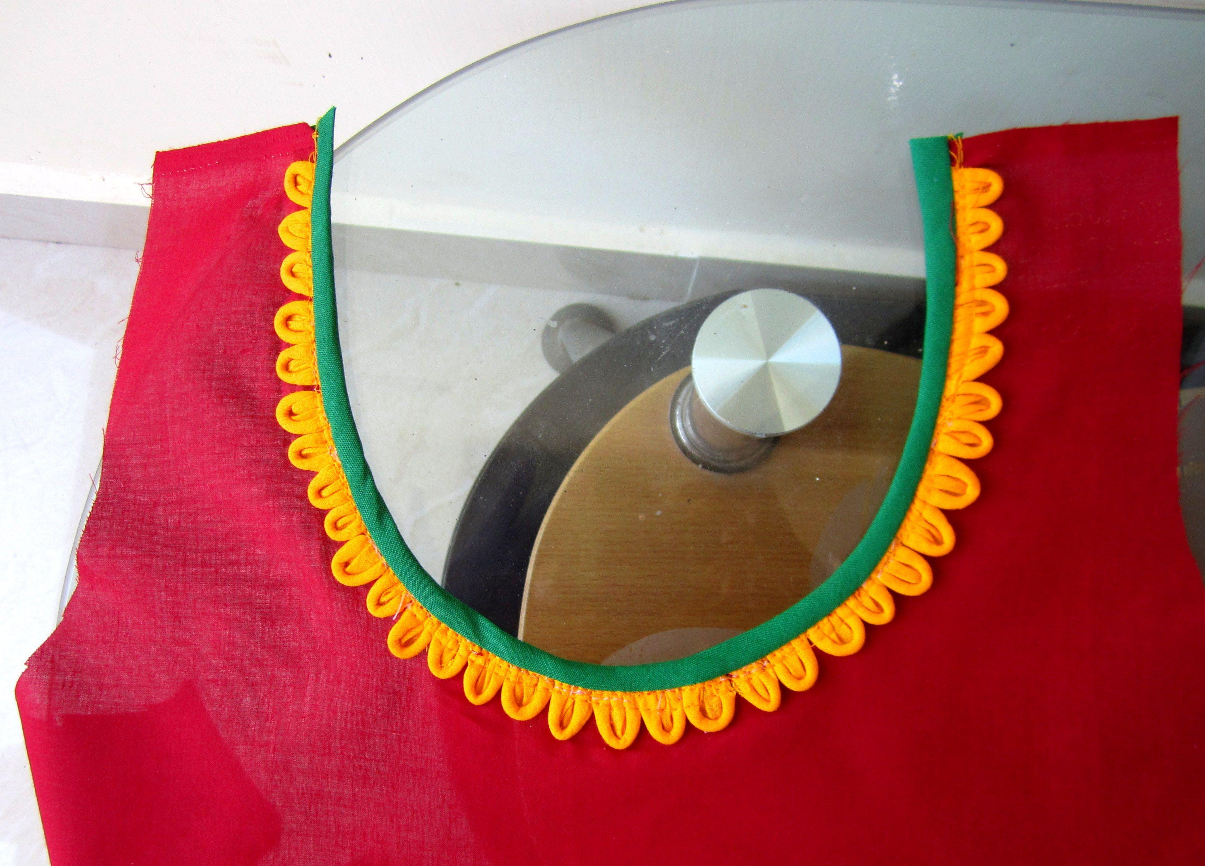 Petals neckline for kurtis salwar kameez blouses applique