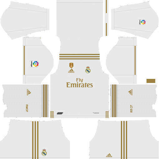 Real Madrid C F 2019 2020 Kit Dream League Soccer In 2020 Real Madrid Kit Real Madrid Home Kit Soccer Kits