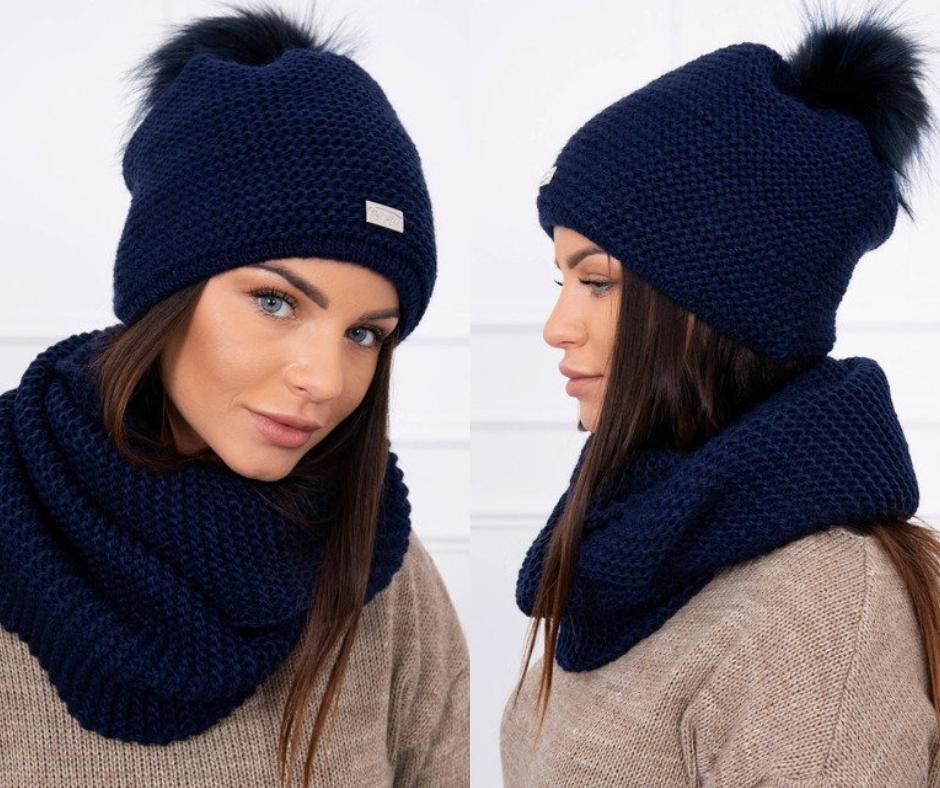 e9240baba Granátová súprava čiapka a šál s moderným a výrazným vzhľadom, ktorá je  pohodlná a trendová. Komplet pletený je nový módny doplnok v našom eshope,  ...