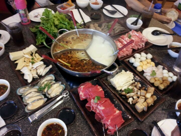The Red Pot Garden Grove Ca Hot Pot Recipe Food Asian Side Dishes