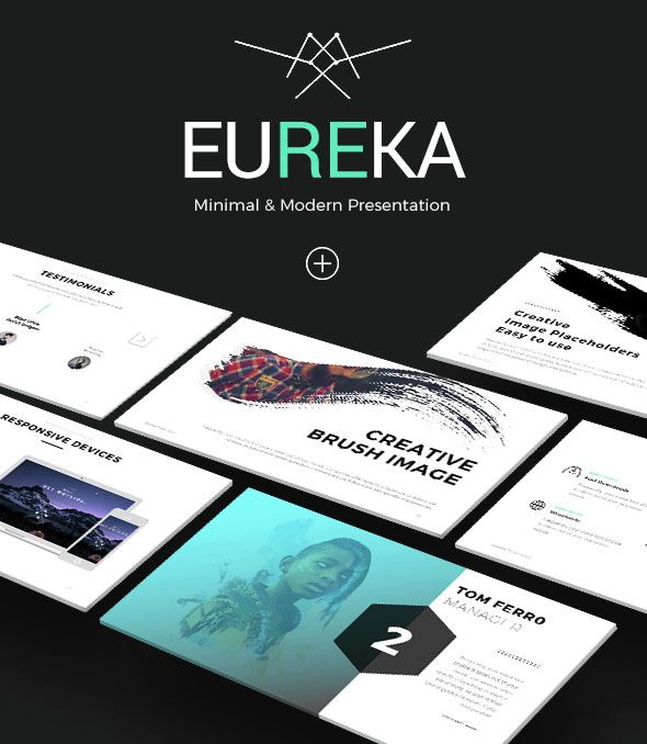 Eureka - Minimal Keynote Template | Design | Pinterest | Keynote