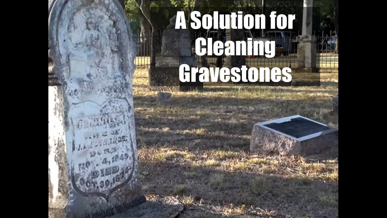 how to clean a gravestone monument