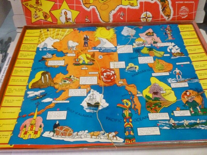 JACMAR ELECTRIC MAP GAME OF THE UNITED STATES   MY VINTAGE TOYS AND ...