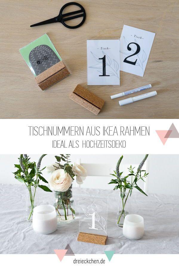 DIY und Deko-Ideen zur Hochzeit mit IKEA: Sitzordnung, Tisch-Nummern und Briefe-Box #dreimalanders /