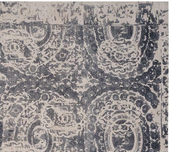 Bosworth Printed Wool Rug Gray Rugs Grey Rugs Rug Sale