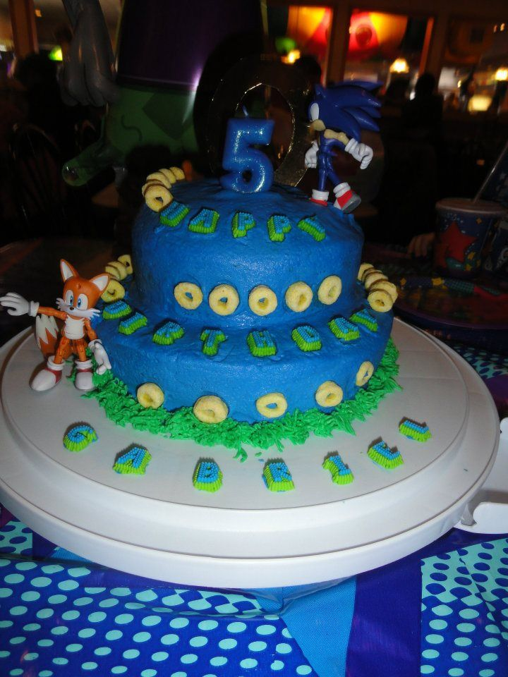 More fun birthday cake ideas with this sonic the hedgehog