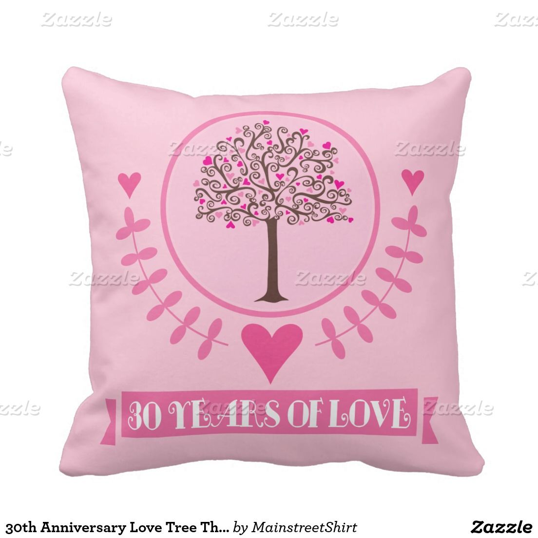 30th Wedding Anniversary Gifts For Husband: 30th Anniversary Love Tree Throw PIllow