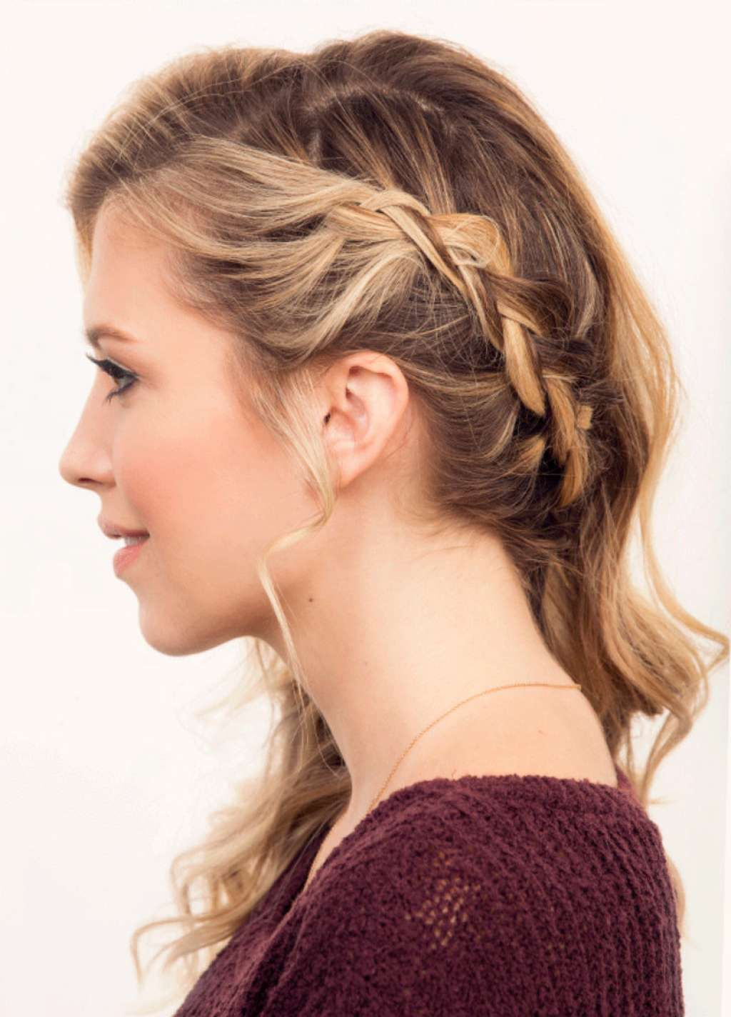loose boho style hair with thin side braid :: one1lady