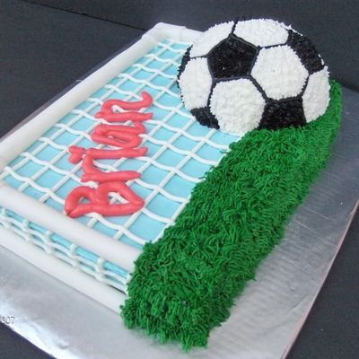 102aac4bf Soccer Net | Sports Cakes & Related Ideas in 2019 | Soccer cake ...